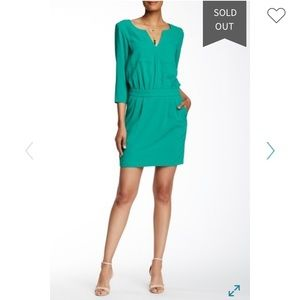 Trina Turk Wynn Crepe Sheath Dress in green